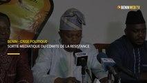 Bénin-Crise politique : Sortie médiatique du comité  national de la Résistance