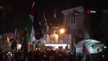 - Göstericiler Bahreyn'in Irak Büyükelçiliğine Girerek Filistin Bayrağı Astı