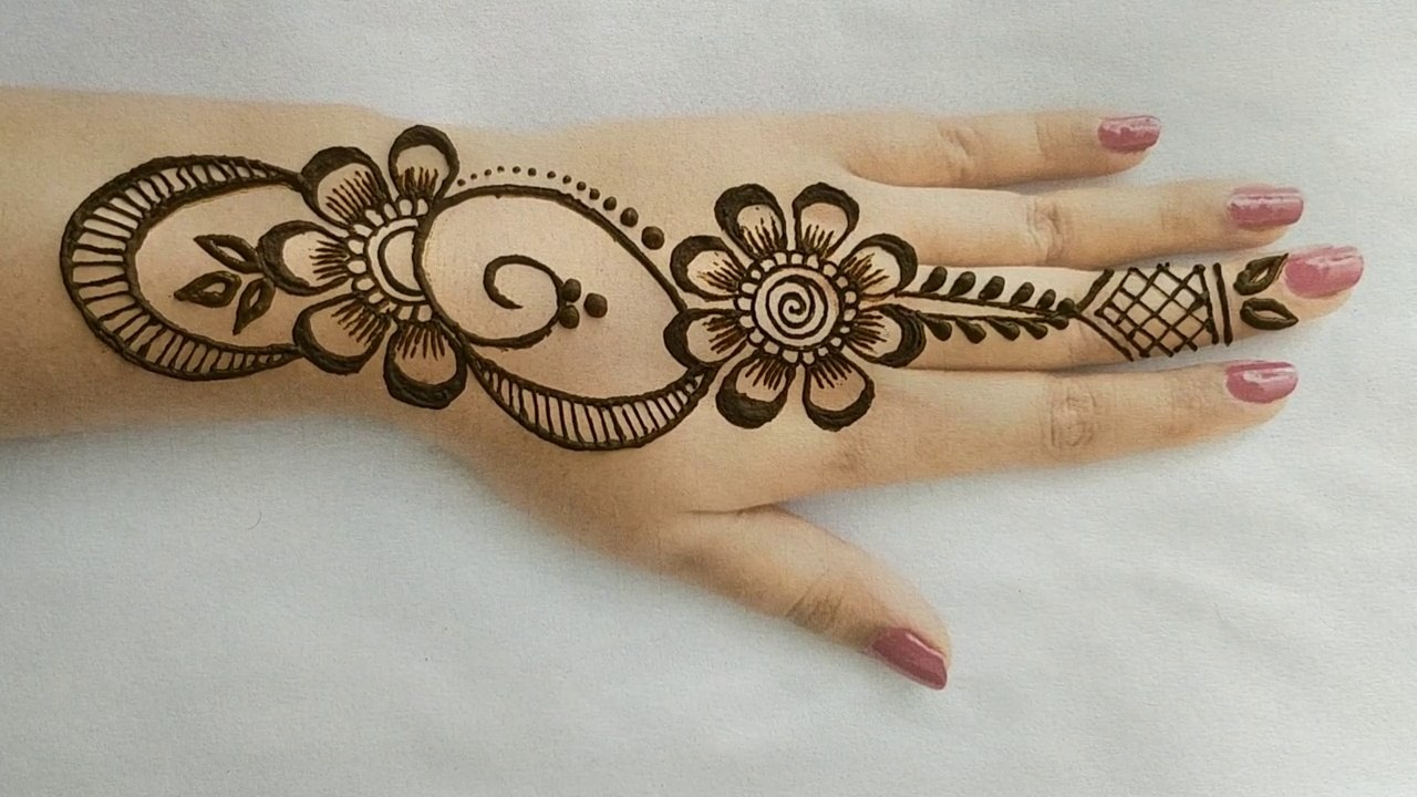 flower stylish back hand mehndi designs! Simple/easy beautiful style henna  mehndi designs 2019