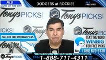 Dodgers vs Rockies MLB Pick 6/29/2019