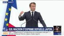 G20: Emmanuel Macron annonce un accord à 19 pour la mise en oeuvre de l'accord de Paris, sans les États-Unis