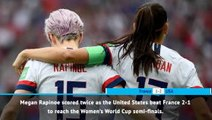 FOOTBALL: FIFA Women's World Cup: Fast Match Report - France 1-2 USA