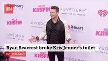 Ryan Seacrest Had Toilet Issues At Kris Jenner's House