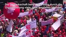 Zehntausende bei IG Metall-Kundgebung in Berlin
