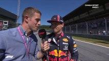 La réaction de Max Verstappen après les qualifications