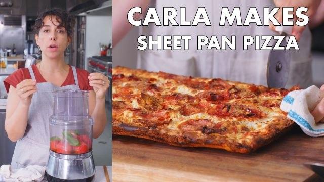 Carla Makes Sheet Pan Pizza
