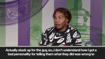 (Subtitled) 'It was not cool' Serena Williams plays down spat with Dominic Thiem
