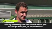 (Subtitled) 'I only look at first rounds' Federer on Wimbledon draw