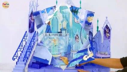 Disney Frozen Queen Elsa's Ice Magic Palace Setup! Königin Elsa Puppe Eispalast Barbie Istana Es | Karla D.