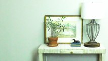 DIY Grasscloth Table
