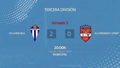 Resumen partido entre Villarrubia y Alcobendas Sport Jornada 3 Tercera División - Play Offs Ascenso