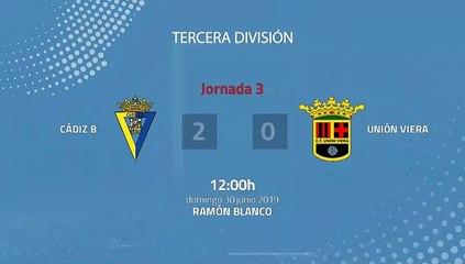 Resumen partido entre Cádiz B y Unión Viera Jornada 3 Tercera División - Play Offs Ascenso