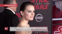 Daisy Ridley Doesn't Get Social Media FOMO