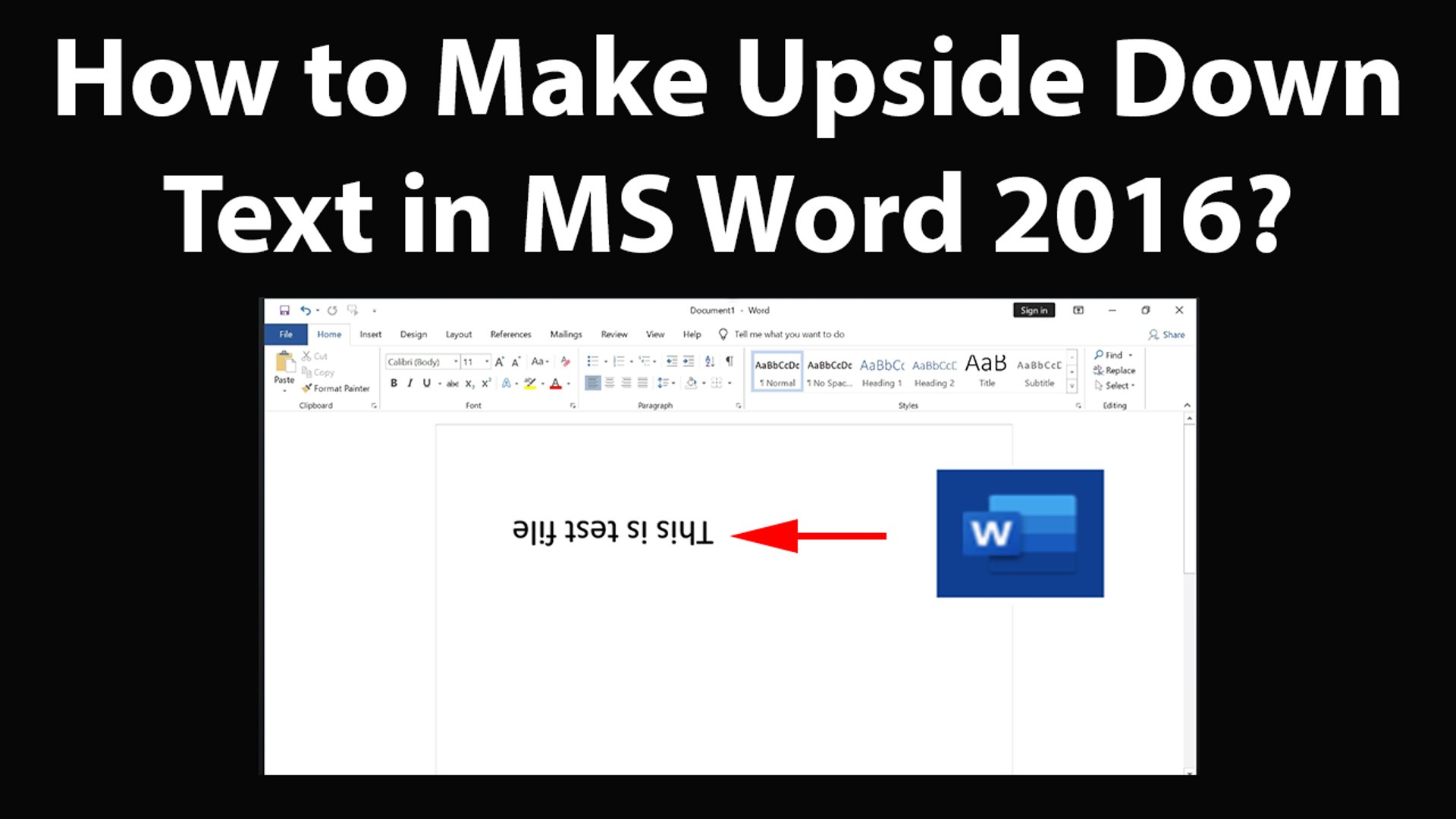How to Make Upside Down Text in MS Word 10