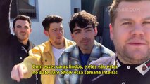 LEGENDADO - LATE LATE SHOW   James Corden anuncia os Jonas Brothers