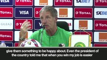 (Subtitled) 'I ddon't react to everyone shouting' RSA coach Baxter at AFCON