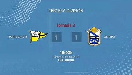 Resumen partido entre Portugalete y AE Prat Jornada 3 Tercera División - Play Offs Ascenso