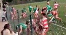 Une énorme bagarre générale éclate lors d'un match amateur
