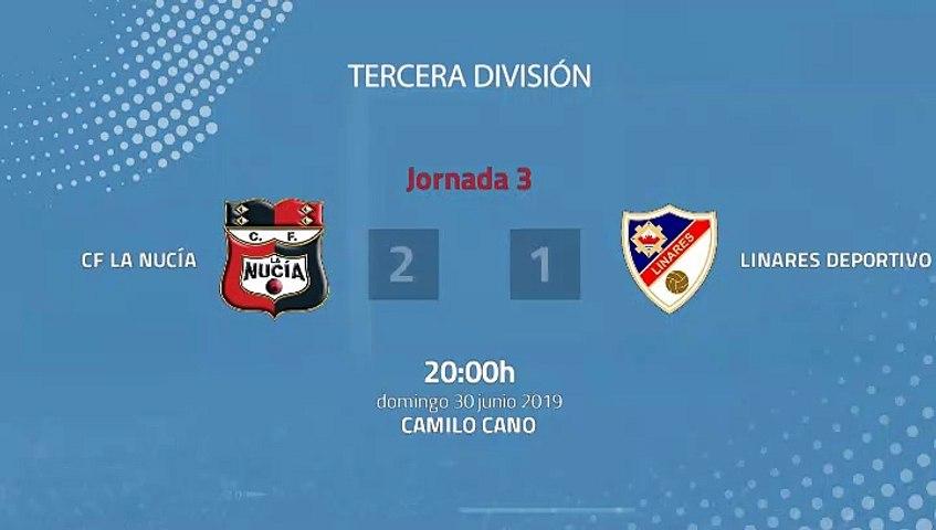 Resumen partido entre CF La Nucía y Linares Deportivo Jornada 3 Tercera División - Play Offs Ascenso