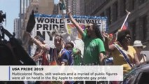 Tens of thousands turn out for Gay Pride parade in New York