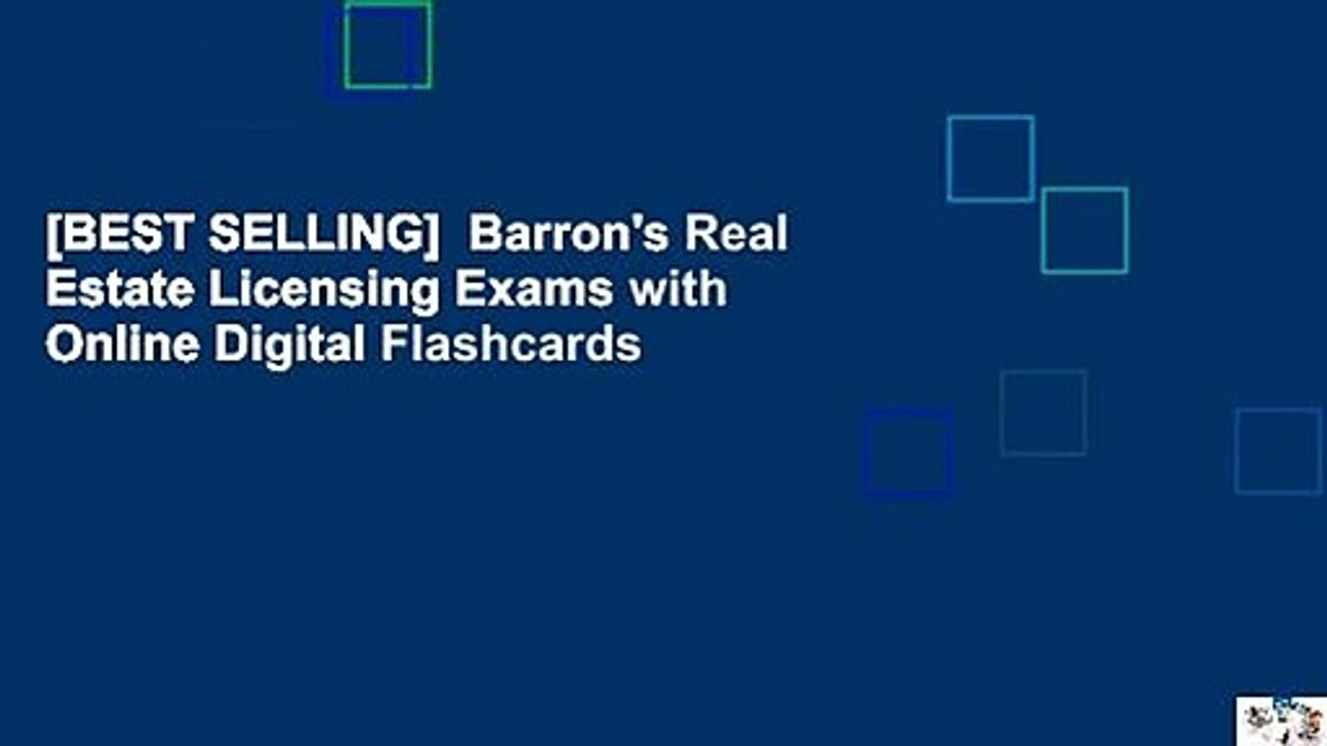 [BEST SELLING] Barron's Real Estate Licensing Exams with Online Digital  Flashcards