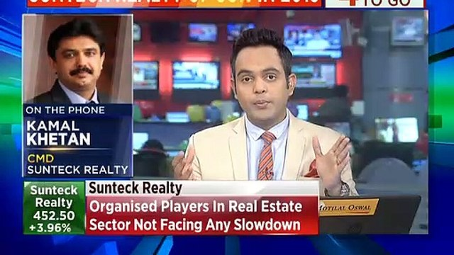 Organised players in real estate sector not facing any slowdown, says Sunteck Realty