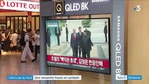 Donald Trump a mis un pied symbolique en Corée du Nord