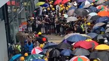 Anti-extradition bill protesters try to storm Hong Kong's legislature on tense handover anniversary