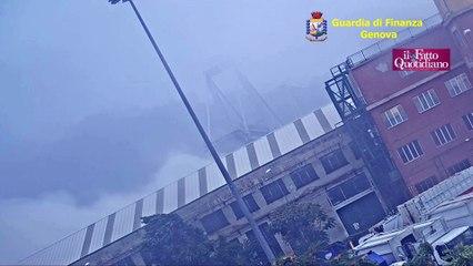 Ponte Morandi, le immagini inedite del crollo diffuse dalla Gdf
