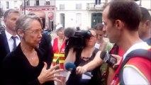 """""""Dites que c'est positif"""", la ministre Elisabeth Borne face à des cheminots CGT"""