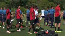 Andre Villas-Boas leads Marseille training for the first time