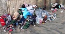 Les images de la honte à la mer du Nord, une plage jonchée de déchets en tout genre