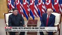 Presidential office says U.S. briefed Seoul on DMZ talks between Kim-Trump