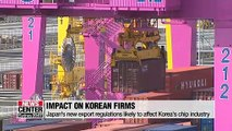 Impact of Japan's planned export regulations on Korean firms