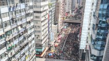 Tens of thousands protest against extradition bill on 22nd anniversary of Hong Kong's handover to China