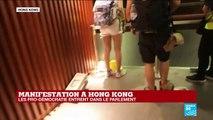 Jour historique à Hong Kong, où des centaines de manifestants entrent dans le parlement