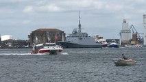 La frégate Normandie quitte Lorient