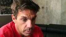 Stéphane Glas, entraineur du FCG : « je ne les ai pas trouvés atteints, mais plutôt reposés et souriants »