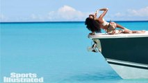 Winnie Harlow Plays Dominoes With Locals in The Bahamas