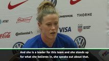 She's brave for standing up in what she believes in - Naeher backs Rapinoe in Trump row