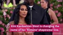 Kim Kardashian Announces She Will Be Changing Kimono Shapewear's Name Following Backlash