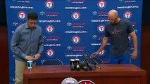 Rangers speak following the death of Angels pitcher Tyler Skaggs