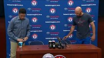 Rangers speak following the death of Angels pitcher Tyler Skaggs