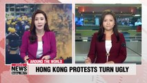 Hong Kong protesters storm main legislative building, clash with police
