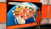 Where could storms erupt on the 4th of July?