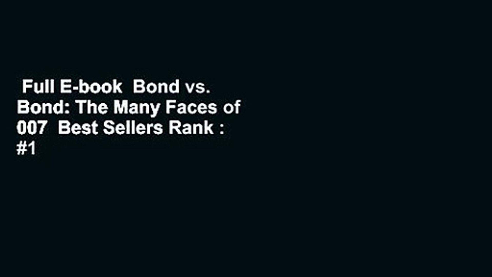 Full E-book  Bond vs. Bond: The Many Faces of 007  Best Sellers Rank : #1