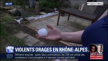 Les images des orages, d'impressionnants grêlons et d'importants dégâts en Auvergne-Rhône-Alpes