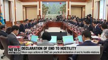 President Moon gives his take on unconventional meeting at DMZ on Sunday