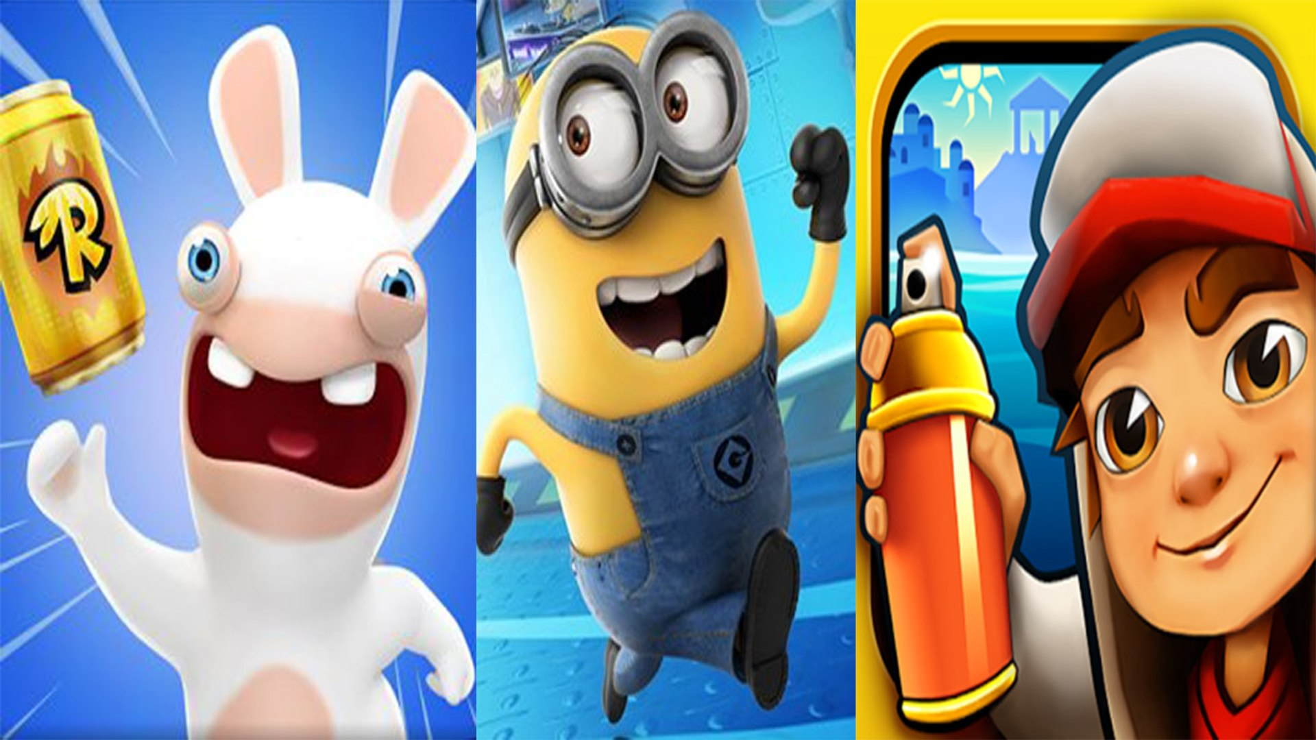 Rabbids Crazy Rush vs Despicable Me Minion Rush vs Subway Surfers  — NEW Compilation