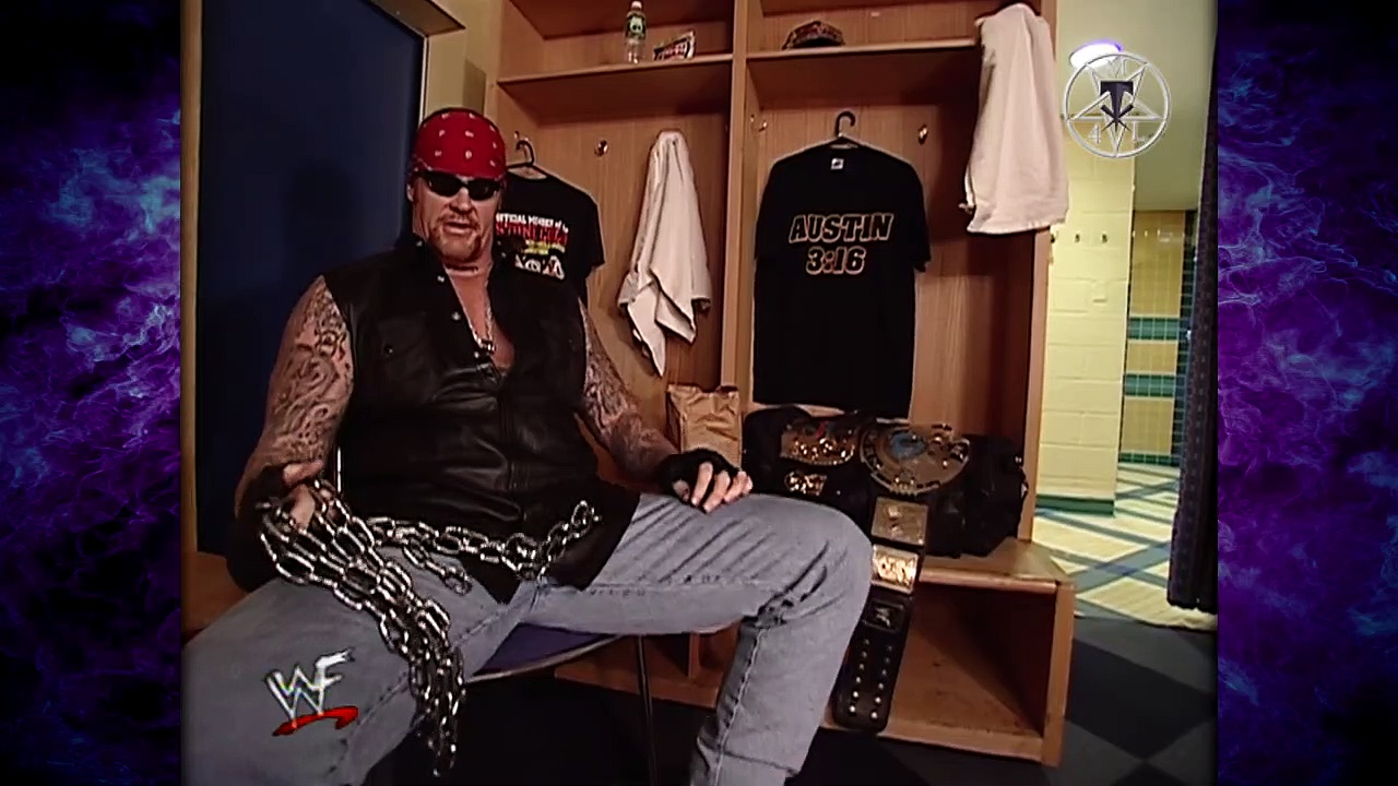 The Undertaker Makes Stone Cold Steve Austin's Locker Room His Yard! 5/10/01